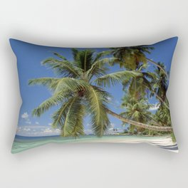 Palm beach, the Seychelles, La Digue island, Rectangular Pillow