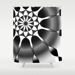 Simple black and grey mandala Shower Curtain