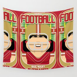 American Football Red and Gold -  Hail-Mary Blitzsacker - Amy version Wall Tapestry