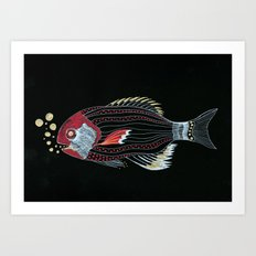 Happy New Fish  Art Print