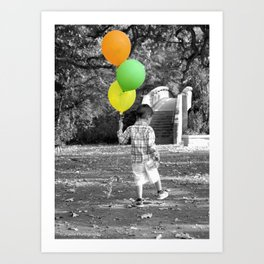 3 Balloons for 3 Years Art Print