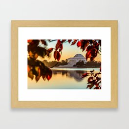 Jefferson in Autumn Framed Art Print