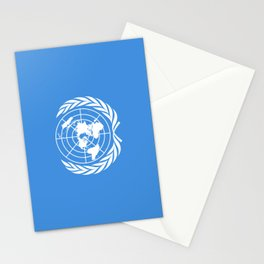 The United Nations Flag - UN Flag Stationery Cards