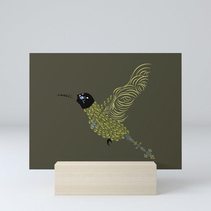 Abstract Hummingbird Mini Art Print