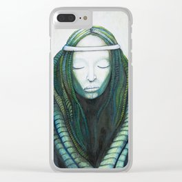 Lady Giger Clear iPhone Case
