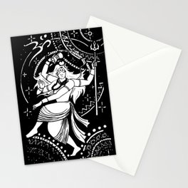 nataraj king of dance black and white only Stationery Cards