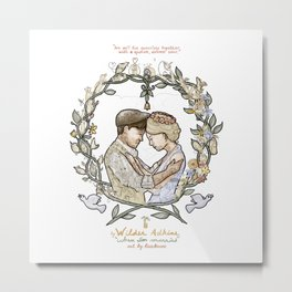 "White background illustration for video of song by Wilder Adkins, ""When I'm Married"" Metal Print"