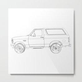 4 wheeler, drawing Metal Print