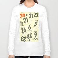 calendar Long Sleeve T-shirts featuring CLOSEUPS - Calendar Sheets by Cordula Kerlikowski