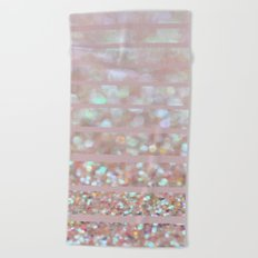Bubbly Party and Stripes Beach Towel
