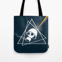 floyd Tote Bags featuring pink Floyd  by mark ashkenazi