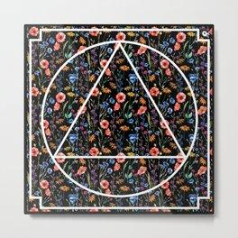 Tringle in the flowers Metal Print