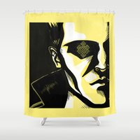 karma Shower Curtains featuring Karma by Oh Ben!