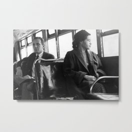 African American Portrait - If Rosa Parks Rode a Bus Today? Metal Print