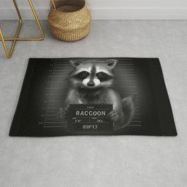 Raccoon Mugshot Rug