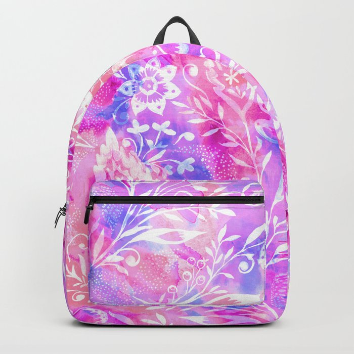 Feminine Folk Floral Backpack