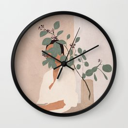 Behind the Leaves Wall Clock