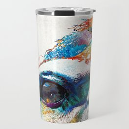 Colorful Horse Art - A Gentle Sol - Sharon Cummings Travel Mug