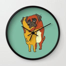 Boxer  Hugs Wall Clock