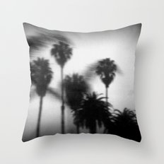 moving palm trees Throw Pillow