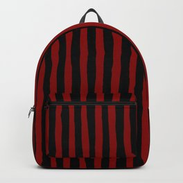 Black and Red Stripes Backpack