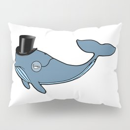 Whale Wearing Top Hat Pillow Sham