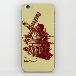 Old Holland windmill iPhone Skin