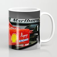 f1 Mugs featuring Ferrari F1 by cjsphotos