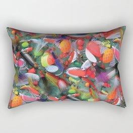 Alaskan Tackle Box by Crow Creek Cool Rectangular Pillow