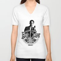 dale cooper V-neck T-shirts featuring Dale Cooper - Twin Peaks by KevinART