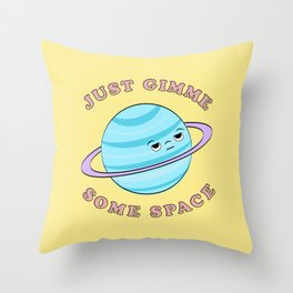 Just Gimme Some Space - Yellow & Blue Throw Pillow