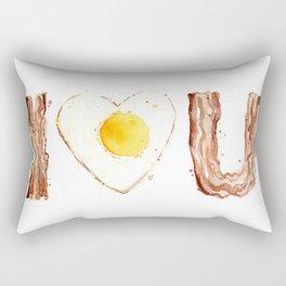 Bacon Love I Heart You Breakfast Food Rectangular Pillow