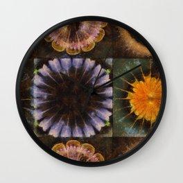 Lirellate Composition Flower  ID:16165-040917-91120 Wall Clock
