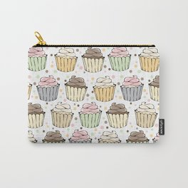 Cupcake Love Pattern -Food Pattern Carry-All Pouch