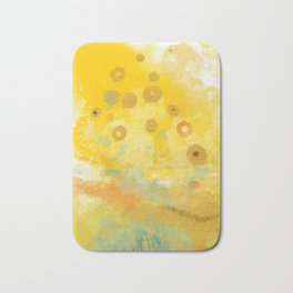 Abstract autumn with gold and warm light Bath Mat