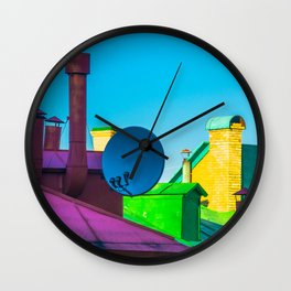 The brightness of the roofs of the city Wall Clock