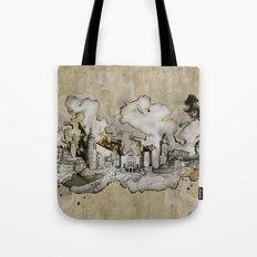 Cottbus Monument Skyline Illustration by carographic, Carolyn Mielke Tote Bag