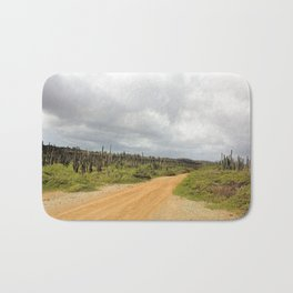 Grey Clouds over Bonaire Island in the Caribbean Bath Mat