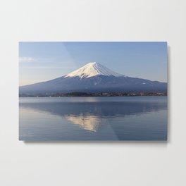 Mt.Fuji from lake Kawaguchiko, Japan Metal Print