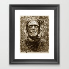 The Creature - Sepia Version Framed Art Print