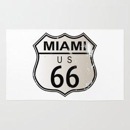 Miami Route 66 Rug