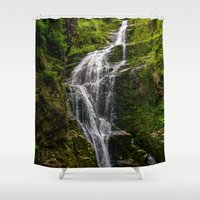 waterfall Shower Curtains featuring Waterfall by Pati Designs