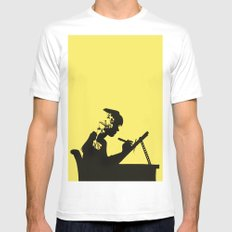 Quarry to be Mined MEDIUM White Mens Fitted Tee