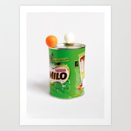 Ping Pong balls on Milo Art Print