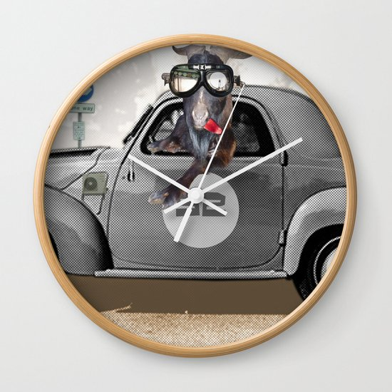 Goat Rally Collage Wall Clock