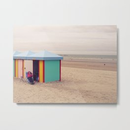 Beach in Dunkerque France Metal Print