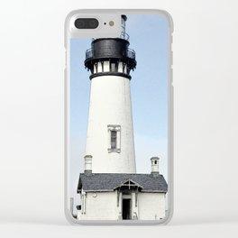 Yaquina Head Lighhouse Clear iPhone Case