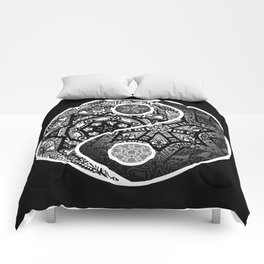 Yin Yang Zentangle Comforters