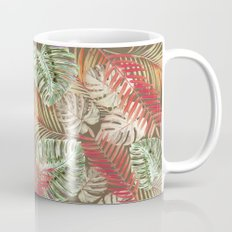Jungle Tangle Red On Brown Mug