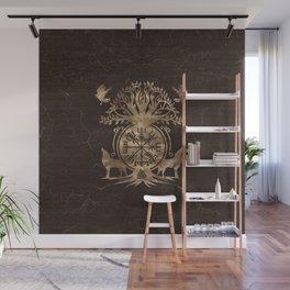 Vegvisir - Viking Compass Ornament Wall Mural